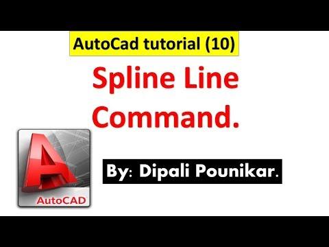 Autocad tutorial (10) on Spline line