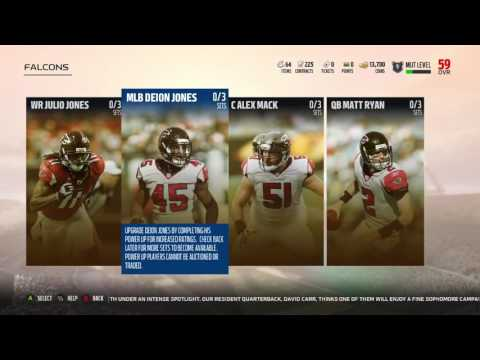 Madden 18 Ultimate team Upgrade Sets available for each team