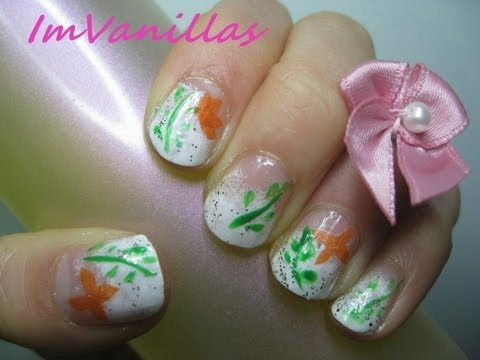 Butterfly / Flowers Tissue Paper Nail Art