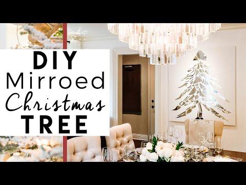 DIY Broken Mirror Christmas Tree | 1st Day of 25 Days of Christmas!