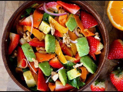 Spring Salad with Orange Honey Dressing