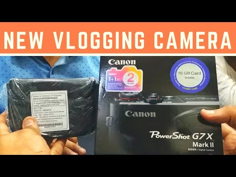 Canon G7x Mark II | New Vlogging Camera | Unboxing, Price and Initial Impressions
