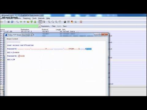 Capture telnet password using wireshark - Sniffing telnet password using wireshark