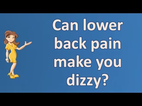 Can lower back pain make you dizzy ? |Most Asked Questions on Health