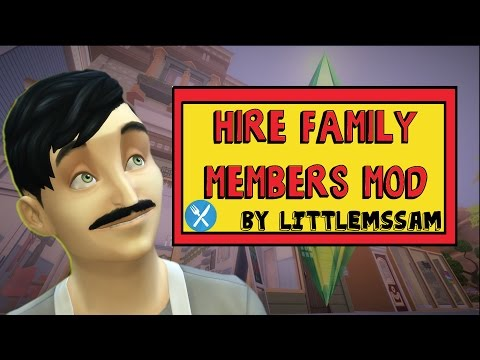 The Sims 4 Dine Out | How to Hire YOUR FAMILY instead | Mod by LittleMsSam