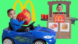 Download McDonald's Happy Meal Drive Thru Pretend Play With CKN Toys Video