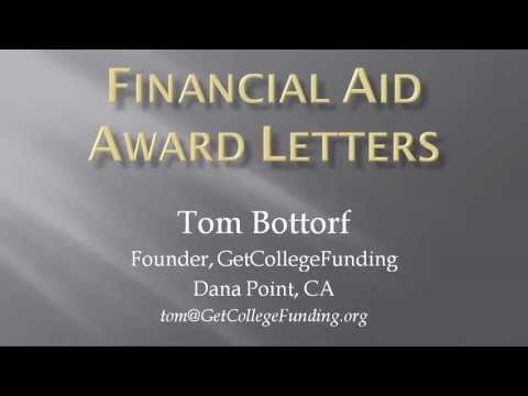 Financial Aid Award Letters