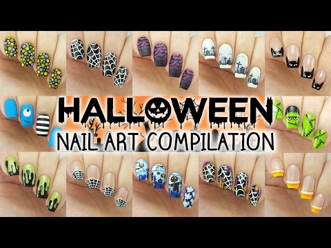 Halloween Nail Art Compilation | 12 Designs Perfect For Short Nails!