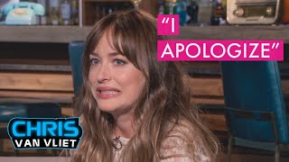 Dakota Johnson apologizes to me for that Leslie Mann interview, Bad Times at the El Royale