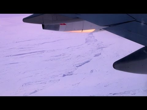 South African Airways (codeshare Qantas), Sydney to Johannesburg flying near the South Pole