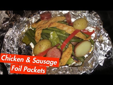 How to Make: Chicken & Sausage Foil Packets