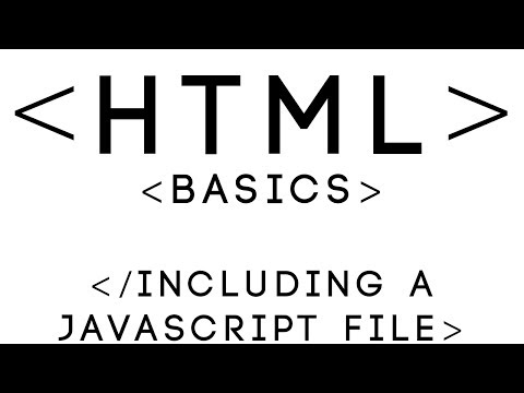 HTML Basics Tutorial 27 - Including a JavaScript File