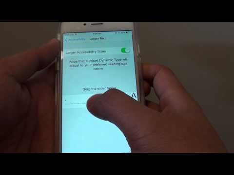 iPhone 6: How to Enable / Disable Larger Text Size