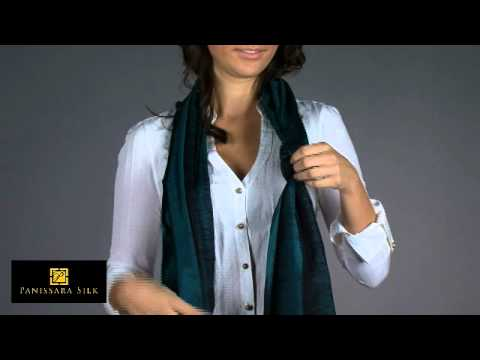 How to Tie a Silk Scarf in a Simple Slip Knot