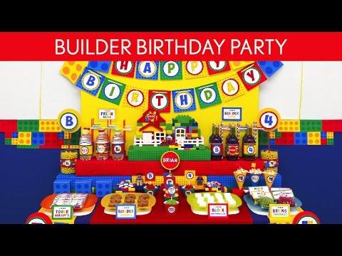 Builder Birthday Party Ideas // Builder - B108
