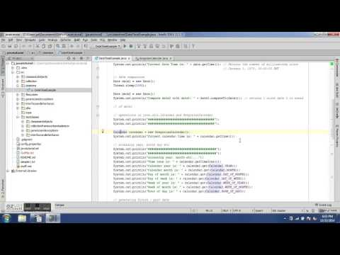 Date and Time operations - 10th Java Training Video