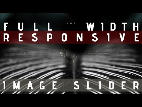 Full Width Responsive Image Slider. Watch How to Create it from Scratch
