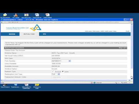CANMONEY TRADING DEMO 5, MUTUAL FUND SECTION