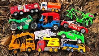 Looking for toy vehicles on green planting land | Indian Auto Rickshaw, Excavator Truck & Cars