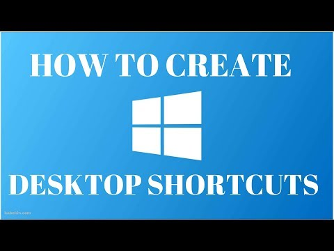 How to Create Desktop Shortcut Icons on Windows 10