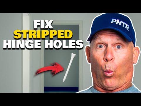 How To Repair Stripped Door Hinge Holes.  Fix stripped wood screw holes.