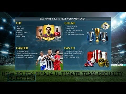 How To Get Fifa14 Ultimate Team Security Question