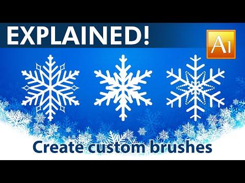 How to Create Custom Brushes - Snowflakes - Adobe Illustrator Tutorial - 06