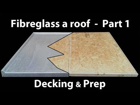 Part 1 How to Install a Fibreglass Roof - GRP timber decking