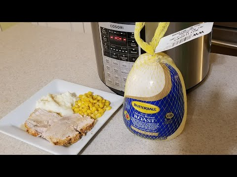 Pressure Cooker Boneless Turkey Breast Roast From Frozen Cosori 6qt Thanksgiving