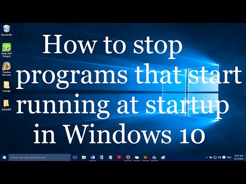 How to Stop Programs that Start Running at Startup in Windows 10