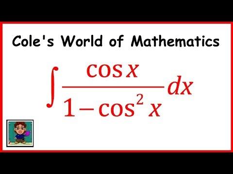 Integral of cos x/(1 - cos^2 x) ❖ Calculus ❖ Trig Integral
