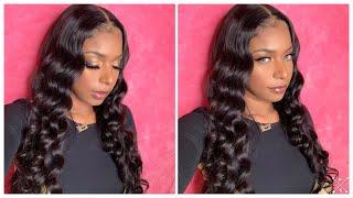 Affordable 24 Inch Body Wave Wig | 13x6 Human Hair Wig | Sunber Hair