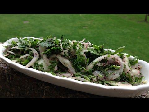 Lebanese Onion & Parsley Salad For Shawarma - طريقة تحضير سلطة البصل والبقدونس للشاورما