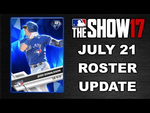 JULY 21 ROSTER UPDATE | MLB 17 THE SHOW DIAMOND DYNASTY