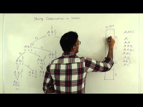 Combination of Characters in String (All subsets of characters)
