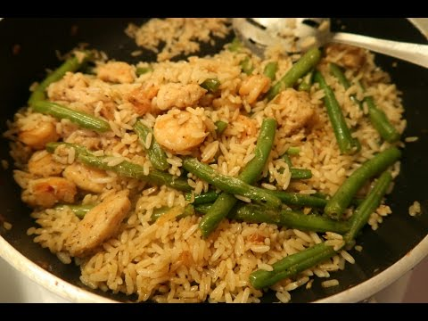 What I Ate Today: Cream Cheese, Green Bean, Chicken, Shrimp & Rice Stir-fry