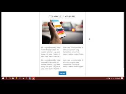 How to design a responsive email template