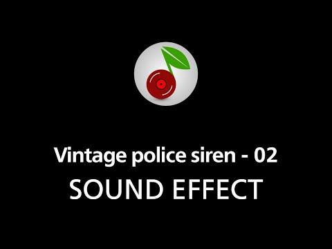 🎧  Vintage police siren - 02 SOUND EFFECT