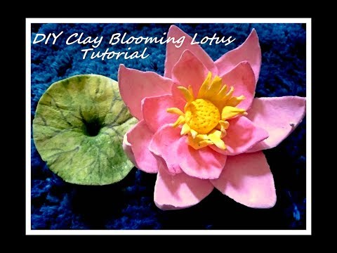 DIY Air Dry Clay Blooming Lotus Tutorial