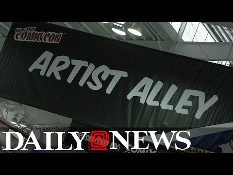 Inside Artist Alley at New York Comic Con