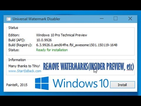 Remove Watermarks(Insider Preview,etc) on Windows 10