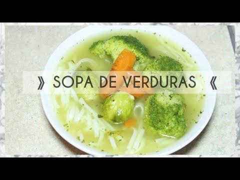SOPA DE VERDURAS   SOPA SALUDABLE