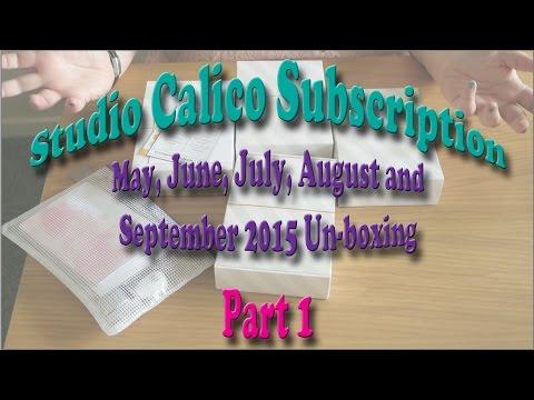 Studio calico subscription un-boxing part 1