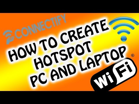 EASY | HOW TO CREATE WIRELESS  WIFI HOTSPOT WITH FREE SOFTWARRE