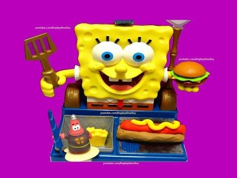 Nickelodeon SPONGEBOB Talking Krabby Patty Maker | itsplaytime612