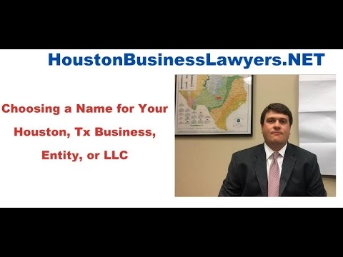 Check LLC Name Availabilty in Texas | Choosing Business Name - Houston Business Lawyers