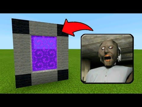 HOW TO MAKE A PORTAL TO THE SCARY GRANNY HOUSE DIMENSION - MINECRAFT PE GRANNY HORROR GAME!!!