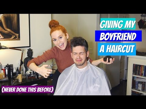 Attempting to give my boyfriend a haircut (it gets bad) | Madelaine Petsch