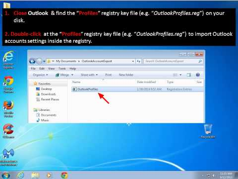How to Backup & Restore Outlook Account Settings