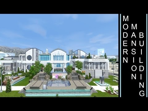 Futuristic Mansion - The Sims 3 - Into The Future - Building a Modern/Futuristic Mansion